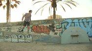Stock Video Footage of Skateboarding