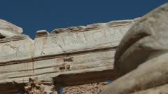 The Forum at Leptis Magna, Libya Stock Footage
