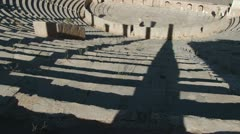 The Theatre in Leptis Magna, Libya - stock footage