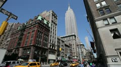 Empire State Building Manhattan New York City NY NYC 25P PAL wide Stock Footage