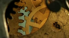 Clock mechanism 21 Stock Footage