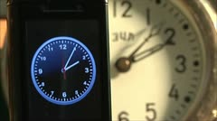 Mobile and usual hours Stock Footage