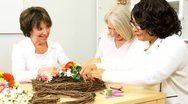 Senior Multi Ethnic Ladies Craft Class  Stock Footage