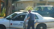 Stock Video Footage of Portland Police Officer