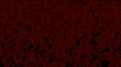 Blood liquid splash,water drop droplet,particles debris fireworks background. Stock Footage