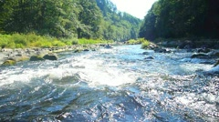 Shooting the Rapids Point of View Stock Footage