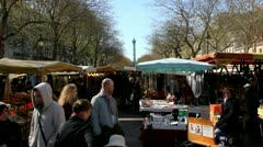 Sunday is marketday - stock footage