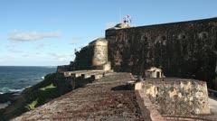 San Juan, El Morro Stock Footage