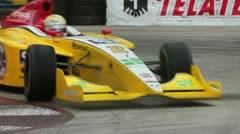 IndyCars Taking a Turn Stock Footage