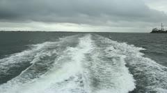Catamaran Wake Stock Footage