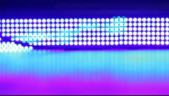 Disco lights decoration panel flickering - stock footage
