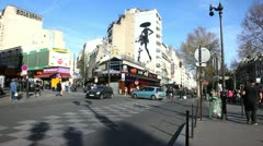 Place Pigalle Stock Footage
