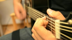 Latino Guitar Player Stock Footage