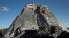 Mayan ruins mexico uxmal Stock Footage