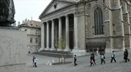Saint Pierre's Cathedral. Geneva Stock Footage