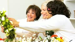 Retirement Female Friends Craft Group  Stock Footage