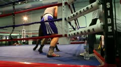 Boxing Spar 2 Stock Footage