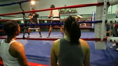 Boxing Spar 7 Stock Footage