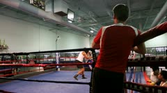 Boxing Spar 4 Stock Footage