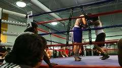 Boxing Spar 5 Stock Footage