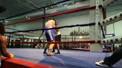 Boxing Spar 1 Stock Footage
