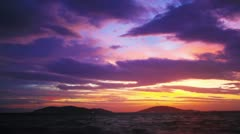 Dramatic sunset. Timelapse Stock Footage