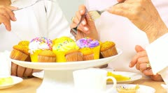 Tempting Cup Cakes  Stock Footage