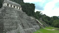 Mayan ruins mexico palenque Stock Footage
