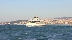 Istanbul City from the sea Stock Footage