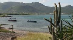 St- Maarten Beach scenery - stock footage