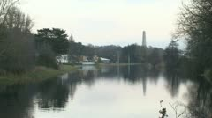 River Liffey near the Phoenix Park Stock Footage