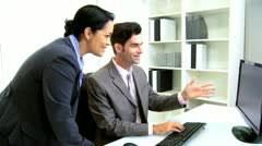 Latin American Banking Colleagues Stock Footage