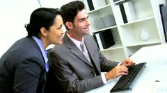 Latin American Business Manager Working Assistant Stock Footage