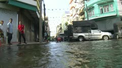 Flood Streets FLOODING Climate Change Global Warming Flood Waters Bangkok 2036 Stock Footage