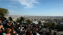 View over Paris Stock Footage