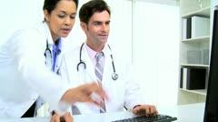 Hispanic Doctors Medical Clinic - stock footage