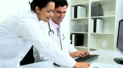 Medical Consultants Hospital Office Stock Footage