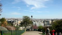 View from Sacre Couer - stock footage