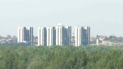 Belgrade Skyline, Serbia Stock Footage