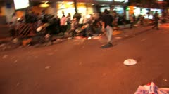 Death Protesters wounded in grenade attack, April 4, 2010, Bangkok, Thailand Stock Footage