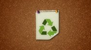Recycle Notice Concept Stock Footage
