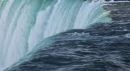 Stock Video Footage of Niagara Waterfall closeup