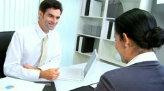 Business Executive Working with Hispanic Assistant Stock Footage