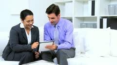 Hispanic Business Partners Good News Stock Footage