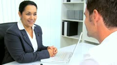 Hispanic Female Attorney Client Meeting  - stock footage