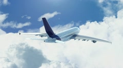 Plane flying above the clouds Stock Footage