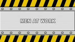 Under construction panel background Stock Footage