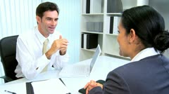 Hispanic Personal Assistant with Office Manager Stock Footage