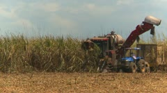 Agriculture, sugar cane harvest tractors long shot, #1 Stock Footage