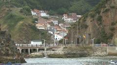 Spain Asturias fishing village 1 Stock Footage